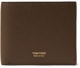 Tom Ford Full-Grain Leather Billfold Wallet - Men - Dark brown