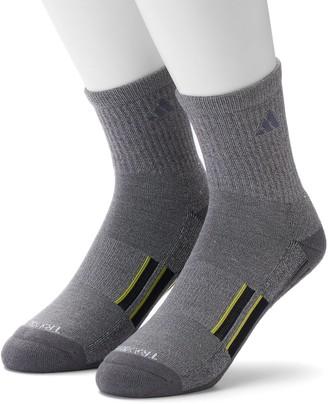 adidas Men's 2-pk. Climalite X Half-Crew Performance Socks
