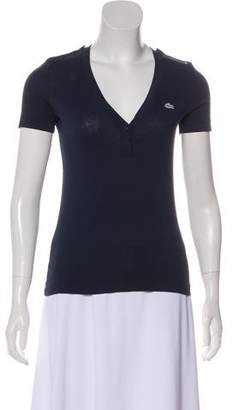 Lacoste V-Neck Short Sleeve Top