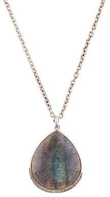 Ippolita Labradorite & Diamond Pendant Necklace