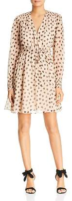 Kate Spade Heart-Print Silk Dress