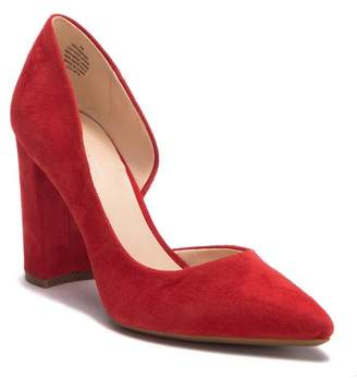 Nine West Anisa D'Orsay Suede Block Heel Pump