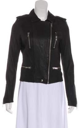 IRO Lamb Leather Moto Jacket