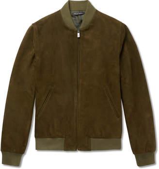 Richard James Slim-Fit Suede Bomber Jacket