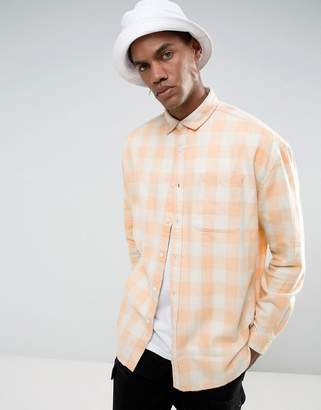 Buffalo David Bitton ASOS DESIGN regular fit plaid shirt with bleach