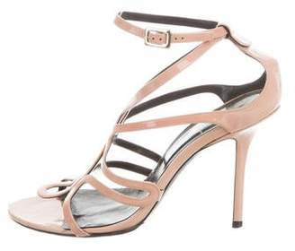 Roger Vivier Patent Leather Round-Toe Sandals