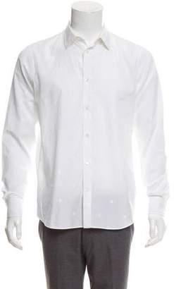 Alexander McQueen Skull Embroidered Button-Up Shirt