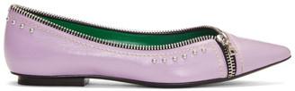 Marc Jacobs Purple The Zipper Flat Ballerina Flats