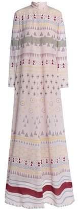 Valentino Flared Silk Crepe De Chine Gown