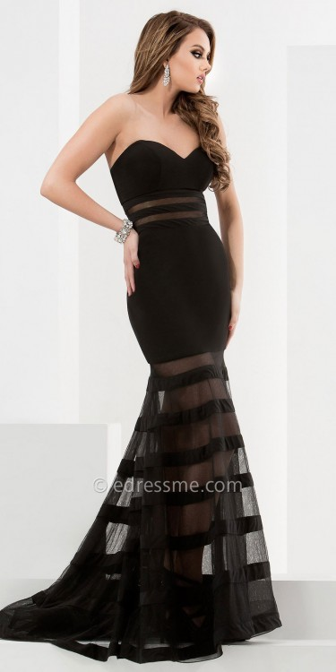 Black Strapless Sweetheart Neckline Dress - ShopStyle Australia