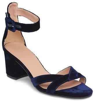 Whistles Marquis Velvet Block Heel Sandals $329 thestylecure.com