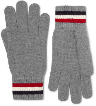 Moncler Striped Virgin Wool Gloves - Gray