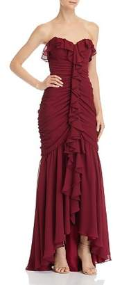 Jill Stuart Ruched Strapless Gown