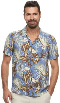 Caribbean Joe Men's Classic-Fit Convertible-Collar Tropical Button-Down Shirt
