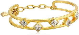 Nicole Miller Scattered Pyramid Cuff Bracelet