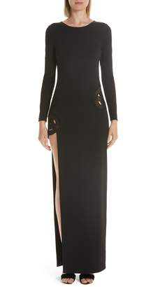HANEY Gia Long Sleeve Evening Dress