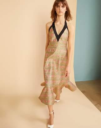 Cynthia Rowley Bonfire Brocade Midi Dress