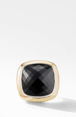David Yurman Albion(R) Statement Ring with 18K Gold and Champagne Citrine or Reconstituted Turquoise