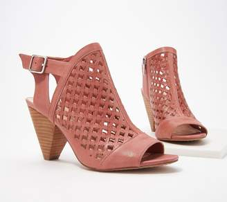 1cd09adb72b Vince Camuto Leather Perforated Heeled Sandals- Emperla