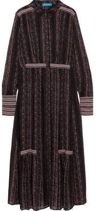 MiH Jeans Brigitte Printed Silk-Georgette Midi Shirt Dress