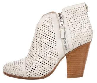 Rag & Bone Perforated Leather Ankle Boots