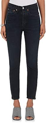 RE/DONE Women's High Rise Ankle Zip Skinny Jeans