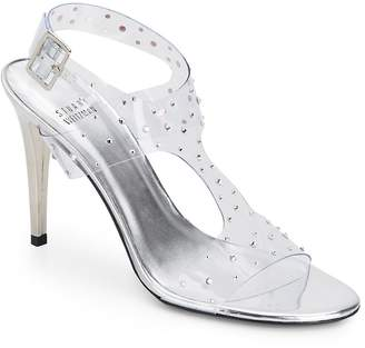 Stuart Weitzman Women's Looking Good Rhinestone-Embellished Clear Sandals