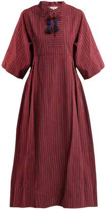 Sea Ines bell-sleeve striped cotton dress