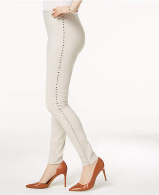 INC International Concepts I.n.c. Curvy-Fit Studded Pull-On Skinny Pants
