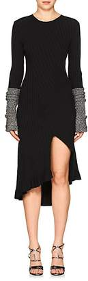 Esteban Cortazar WOMEN'S RIB-KNIT LONG-SLEEVE DRESS