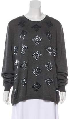 Lela Rose Embellished Wool Sweater
