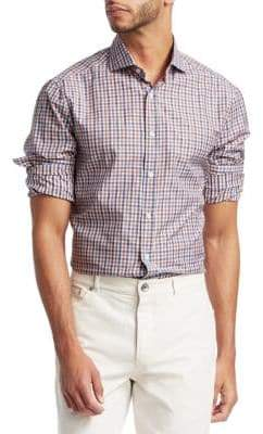 Brunello Cucinelli Gingham Plaid Button-Down Shirt