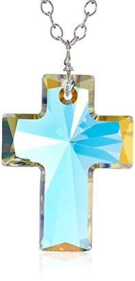 Swarovski Sterling Chain with Elements Cross Pendant Necklace