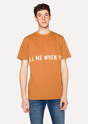 Paul Smith Ps R.E.M. + Orange Marl 'Call Me' Print T-Shirt