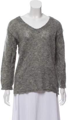 Etoile Isabel Marant Mohair-Blend V-Neck Sweater