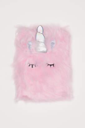 H&M Fluffy Notebook - Pink