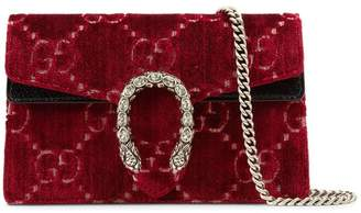 Gucci Dionysus GG velvet super mini bag