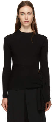 3.1 Phillip Lim Black Waist-Tie Sweater