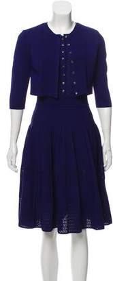 Oscar de la Renta 2016 Open Knit Dress Set