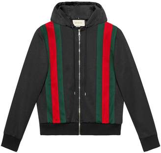 Gucci Technical jersey bomber jacket