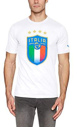 Puma Men's FIGC Italia Badge Tee