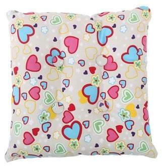 Unique Bargains Home Office Square Tie Design Back Chair Pillow Cushion Pad(Heart w Button)