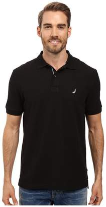 Nautica S/S Solid Polo With Tape Men's Short Sleeve Pullover