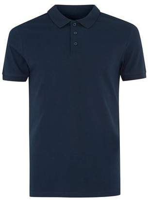 Topman Mens Navy Muscle Fit Polo