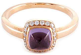 Pain De Sucre Fred 'Pain de sucre' diamond amethyst 18k rose gold small ring