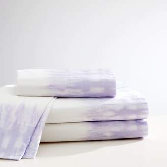 Pottery Barn Teen Tie Dye Cuff Sheet Set, XL Twin, Lavender