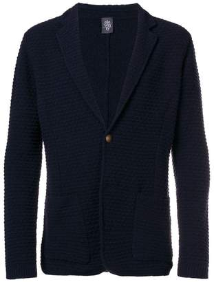 Eleventy textured button cardigan