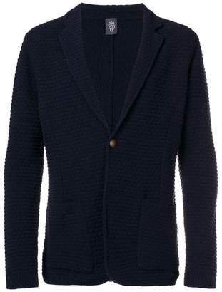 Eleventy textured button cardigan