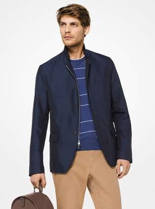Michael Kors Nylon Zip-Front Blazer