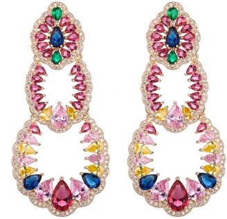 Eye Candy Los Angeles Eye Candy La Candice Multi Color Cz Crystal Drop Earring